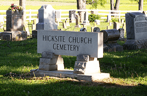 Hicksite Church Cemetery in Salem Indiana