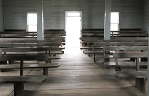 Blue River Hicksite Meeting House Interior